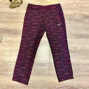 Nike - Leggings - Dri-Fit - Pink + Black Dots - S